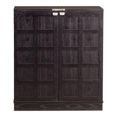 Steamer Bar Cabinet - Crate and Barrel  http://www.crateandbarrel.com/furniture/storage-cabinets/steamer-bar-cabinet/s233296