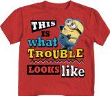 Despicable Me 2 Trouble Looks Like Minion Red Toddler T Shirt Despicable Me 2, Style Inspiration, Minions Minions, Red, Mens Tops, T Shirt, Supreme T Shirt, Tee Shirt, Tee