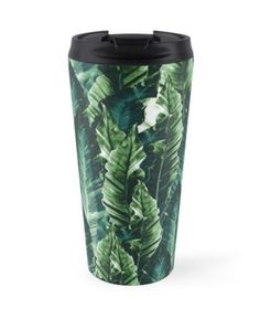 """Green Vibes #1 #tropical #foliage #decor #art"" Travel Mugs by anitabellajantz 
