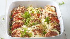 Easy Cooking, Ratatouille, Cauliflower, Zucchini, Sausage, Vegetables, Ethnic Recipes, Foods, Summer Squash