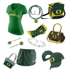 Oregon Love 2 by mag11rich on Polyvore featuring polyvore, fashion, style, NIKE, For Bare Feet, WinCraft, The Bradford Exchange, Stockdale and clothing