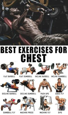 Training your chest shouldn't be a futile exercise of boring monotony. Toned pecs (pectorals or chest muscles) are high on most men's muscle wish list, and that strong, sculpted look can be achieved with correct physical training. This article will give y Chest Workout For Men, Workout Routine For Men, Gym Workout Tips, Biceps Workout, Cycling Workout, Lower Chest Workout, Chest Workouts With Dumbbells, Men's Chest Workouts, Exercise For Chest