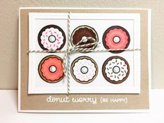 Presents For Boys, Presents For Teachers, Sweet Stamp Shop, National Donut Day, Cool Cards, Diy Cards, Lawn Fawn Stamps, Weekend Projects, Paper Pumpkin