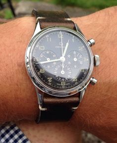 Superb Vintage Certina Chronograph In Stainless Steel