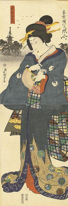 河鍋暁斎 Kawanabe Kyosai ,歌川国貞(2代) Utagawa KunisadaⅡ 『明石屋お房』(1867)