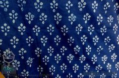 Cotton fabric for quilting. Indigo Batik Fabric. by FabricTreasury, $8.50
