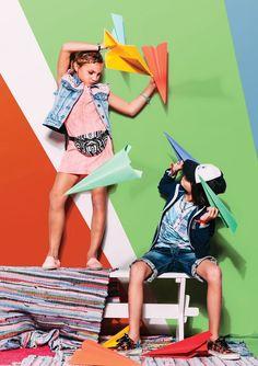 Spring Summer 2016 collection by Indian Blue Jeans Summer Kids, Summer 2016, Spring Summer, New Era Kids, Stylish Little Girls, Indian Blue, Kids Studio, Kids Branding, Kids Girls