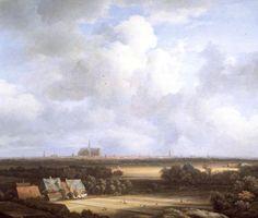 View of Haarlem from the Dunes at Overveen (lighter), Jacob van Ruisdael, 1670, Flanders, Baroque