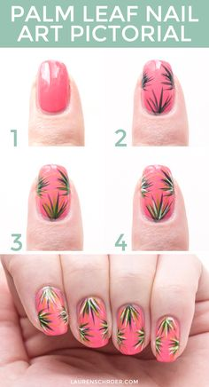 Palm Leaf Nail Art (and Tutorial!) — Lauren Schroer | Graphic Designer & Blogger