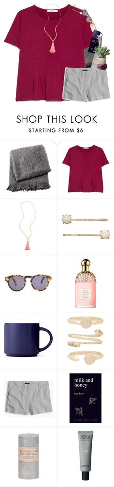 """""""I never want to let go of this feeling"""" by mac-moses ❤ liked on Polyvore featuring From the Road, MANGO, Gorjana, LC Lauren Conrad, Illesteva, Guerlain, Kendra Scott, J.Crew and Torre & Tagus"""