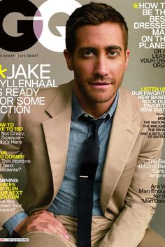 """Jake Gyllenhaal in the """"I Can Wear This to Every Summer Wedding in Hudson Valley"""" tan suit."""
