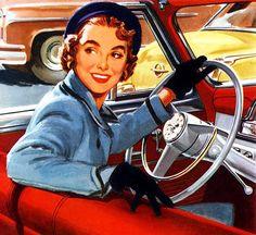 Дама за рулем