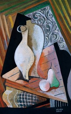 Bela Kadar - Still life with apples and pears, Still Life With Apples, 5th Grade Art, Still Life Art, Love Art, Oeuvre D'art, Les Oeuvres, Painting & Drawing, Modern Art, Art Projects