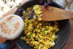 Míchaná tofíčka (tofu jako míchaná vejce)   Jíme Jinak Tofu, Grains, Seeds, Korn