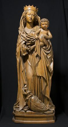 Virgin and Child of the Apocalypse Date: 1480–90 Culture: German Medium: Limewood