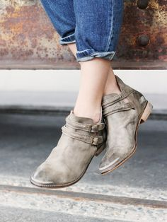 Braeburn Ankle Boot | Rugged leather ankle boots with cool open sides. Double…