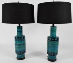 Pair of Lamps by Bitossi Rimini | From a unique collection of antique and modern table lamps at https://www.1stdibs.com/furniture/lighting/table-lamps/