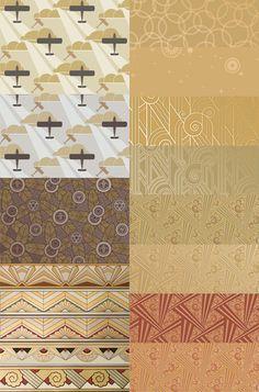 Bradbury Art Deco Wallpaper Sample Kit | Gold