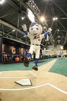 New York Mets' Mr. Met in the Fan Cave