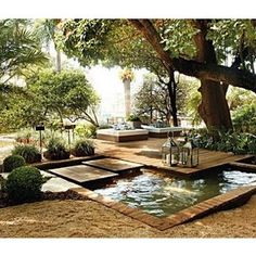 Ateliê Gaaya: Jardins, varandas, quintais..// HIDE THE POOL is a pond to gather water !,...,,