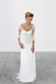 70+ Wedding Dresses for Older Brides with Sleeves - Best Wedding Dress for Pear Shaped Check more at http://svesty.com/wedding-dresses-for-older-brides-with-sleeves/