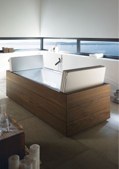 duravit tub with pillows open