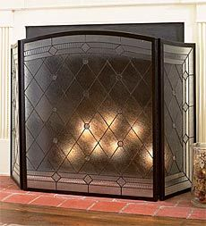 STAINED GLASS ~ FirePlace Screens, Windows, Lighting, Lamps, Light ...