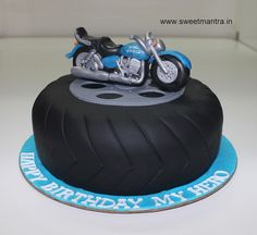 Royal Enfield Bike Theme Small Designer 3D Birthday Cake For Husband At Balewadi Pune 3d