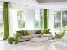 The Little-Known Secrets to Beautiful Striped Walls Living Room Designs Ideas - findmynewhomes Striped Walls Living Room, Living Room Decor Green Walls, Charcoal Sofa Living Room, Interior Design Hallway, Green Living Room Decor, Luxury Sofa Design, Living Room Decor Cozy, Ceiling Design Living Room, Green Home Decor
