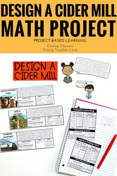 Design a Cider Mill - Fall Math Project - Project Based Learning - PBL - 5th Grade Classroom, Middle School Classroom, High School, Infant Lesson Plans, Teaching Jobs, Teaching Ideas, Math Projects, Mentor Texts, Math Concepts