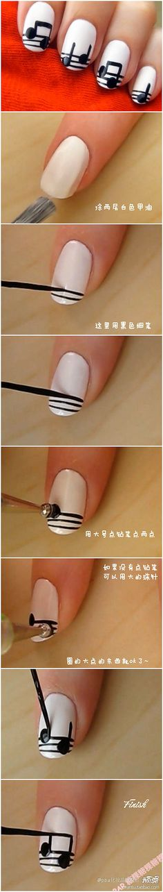 show you how to create music nails