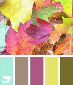 teal brown purple yellow green