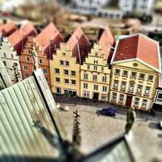 Looking down onto Osnabrueck Germany