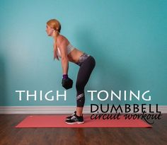 Thigh Toning Dumbbell Circuit Workout || lushiousLIFTS.com