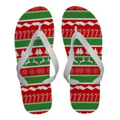 Ugly Christmas Sweater Flip-Flops