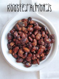 Easy to make, great for the holidays: Cinnamon & Sugar roasted almonds