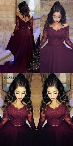 prom dresses, 2018 prom dresses,wine red party dresses,2 pieces prom dresses,burgundy evening dresses,elegant evening dresses #2piecespromdress #2piece #2pieces #twopieces #promdress #promdresses #hiprom #prom #GraduationDress #2018 #PartyDress #burgundyprom