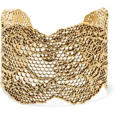 Aurélie Bidermann Lace gold-plated cuff ($530) ❤ liked on Polyvore featuring jewelry, bracelets, lace jewelry, boho jewelry, bohemian style jewelry, handcrafted jewelry and boho chic jewelry