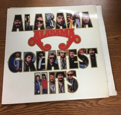 Vintage Alabama Greatest Hits vinyl LP record 1986 issue RCA AHL1-7170-A