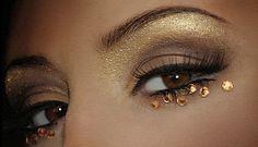 rhinestone makeup - Google Search