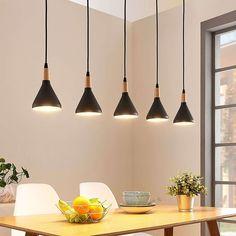Retro COFFEE Decken-Lampe Hänge Beleuchtung Pendel Leuchte METALL Schwarz WOFI