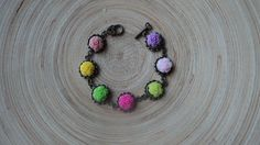 multicolor roses bracelet.$10
