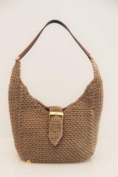Hobo bag beige Crotchet Bags, Knitted Bags, Crochet Handbags, Crochet Purses, Hello Kitty Crochet, Macrame Bag, Handmade Handbags, Crochet Shoes, Hobo Handbags