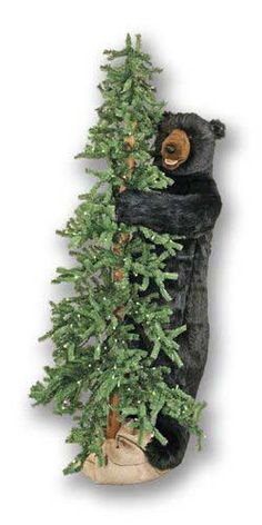 A 6 foot tall lighted alpine tree with a wonderful standing black bear will provide rustic Christmas decor for your cabin or lodge! interior design 2012 decorating before and after room design designs Christmas Lodge, Woodland Christmas, Country Christmas, Christmas Tree, Rustic Lodge Decor, Western Decor, Rustic Cabins, Log Cabins, Rustic Wood