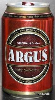 Cerveja Argus Tostada, estilo Amber Lager, produzida por Lidl Polska, Portugal. 6.6% ABV de álcool.