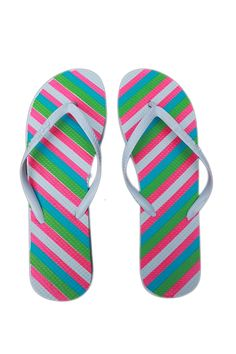 Stars & Stripes Neon Candy Colored Flip Flops Graphic Sandales 5-11