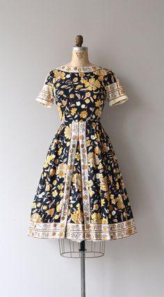 Barbaroux dress vintage 1950s dress floral print by DearGolden