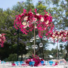 Hanging centerpieces Helpful Inspiration brought to you by Bridal Solutions KC @ BridalSolutionsKC.com, FB as Bridal Solutions and Tailor, (816)941-3232