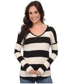 Lucky Brand Wide Stripe Top