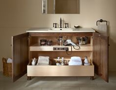 Get organized in the bathroom once and for all with a tailored vanity from our vast collection.